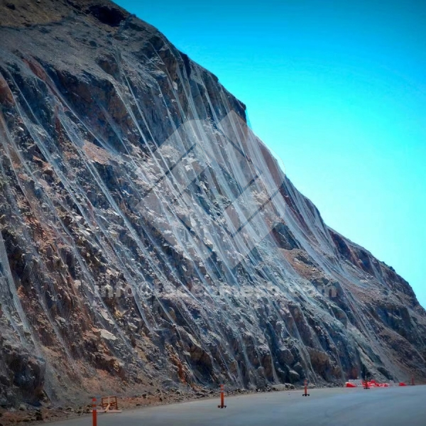 Tecco slope stabilization system is an important active protection type in the rockfall barrier projects